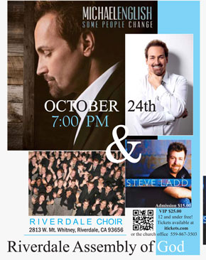 Michael English & Steve Ladd in Concert - October 24th